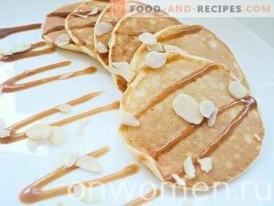 Pancakes sottili su kefir