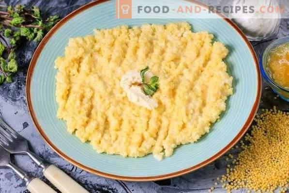 Millet porridge with milk