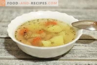 Супа от консерви от фасул в бавен котлон