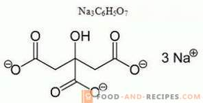 Natriumcitraat E331 - schade, toepassing