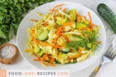Salades de choux et carottes