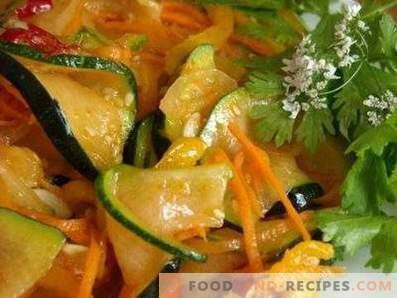 Zucchini in Korean for the winter