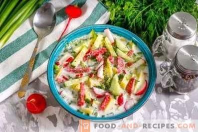 Okroshka with radish