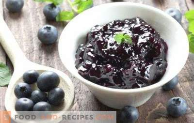 Blaubeermarmelade ist ein wahres Lagerhaus für Vitamine. Marmelade aus Blaubeeren für den Winter hilft bei der Bekämpfung von Krankheiten und Krankheiten