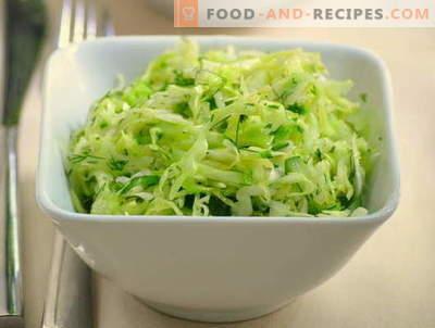 Kāpostu un gurķu salāti ir piecas labākās receptes. Kā pareizi un garšīgi pagatavot salātus ar kāpostiem un gurķiem.